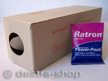 Ratron® Granulat Power-Packs 1 x 40 g & 1 Rattenbox Karton